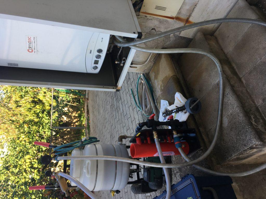 Lavaggio imapianto termico con Sentinel Jetflush